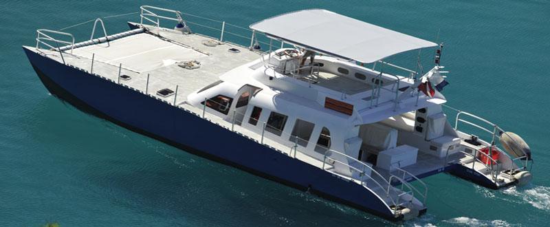 Plongee Caraibes Catamaran Blue Cat St Barts Caribbean Stay
